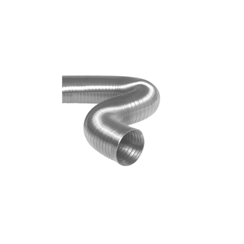 Semi-Flexibele Slang Ø 150mm 2 Meter Lang Aluminium