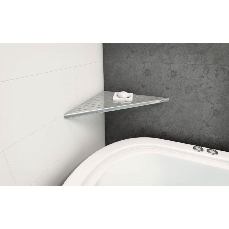 Sanitair-producten 63315 Hoekplanchet Shangle Driehoek 47 cm Recht of Rond (4 kleuren)
