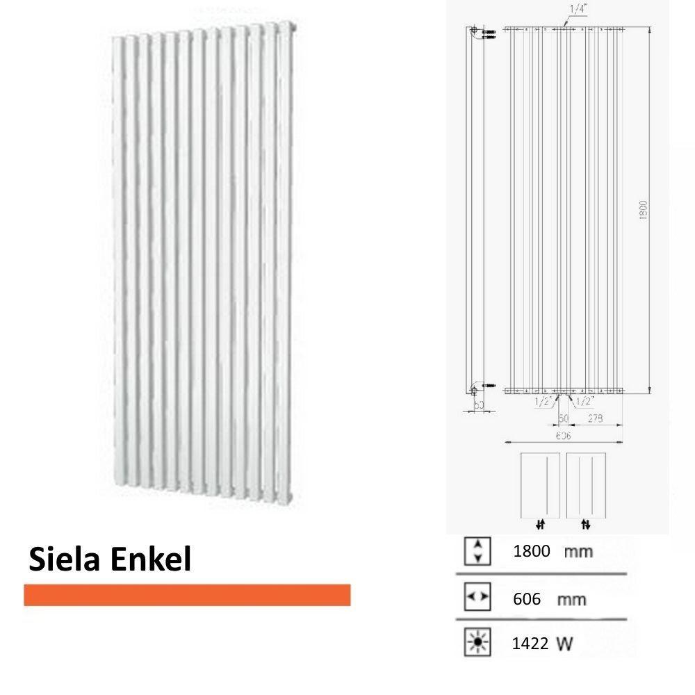 Handdoekradiator Boss & Wessing Siela Enkel 1800 x 606 mm