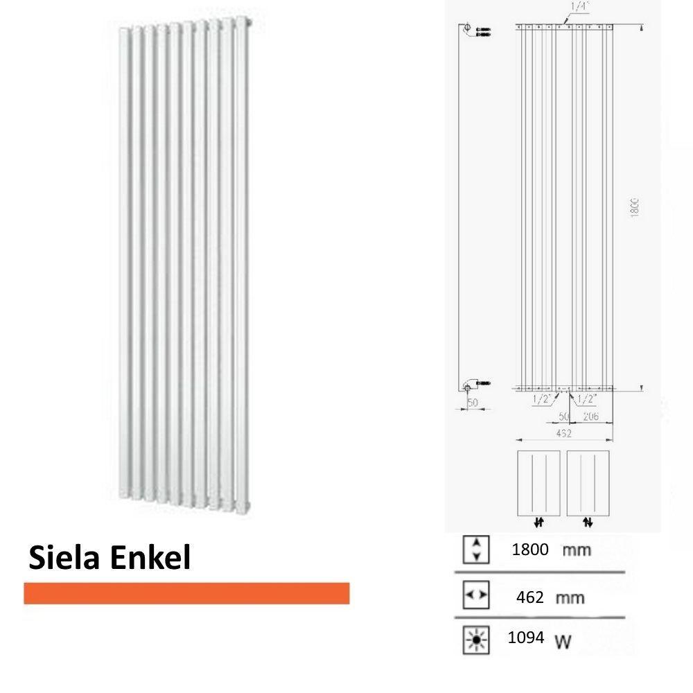 Handdoekradiator Boss & Wessing Siela Enkel 1800 x 462 mm