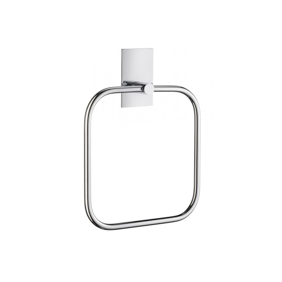 Smedbo Handdoekring 16.8x16.8 cm Vierkant Gepolijst Edelstaal Zilver