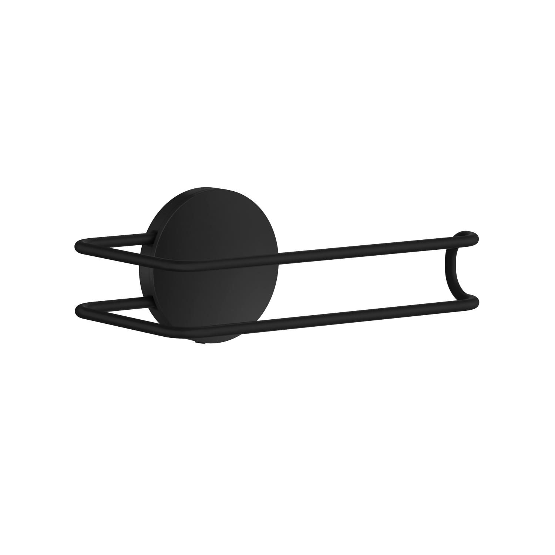 Smedbo Toiletrolhouder 13.4x7.3x5.5 cm RVS Mat Zwart