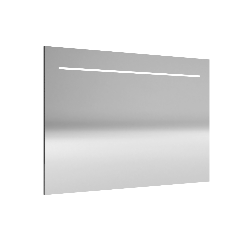 Spiegel Allibert Deli LED Verlichting Bovenzijde 90x70cm Aluminium Profiel