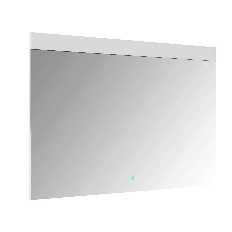 Spiegel Allibert Rei LED Verlichting Bovenzijde 100x70cm Aluminium Rand