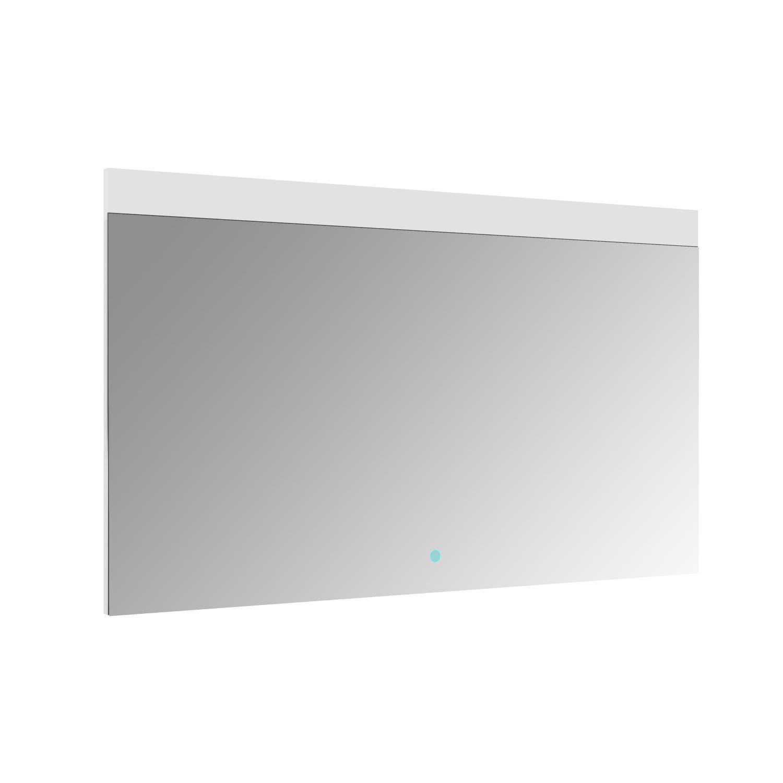 Spiegel Allibert Rei LED Verlichting Bovenzijde 120x70cm Aluminium Rand