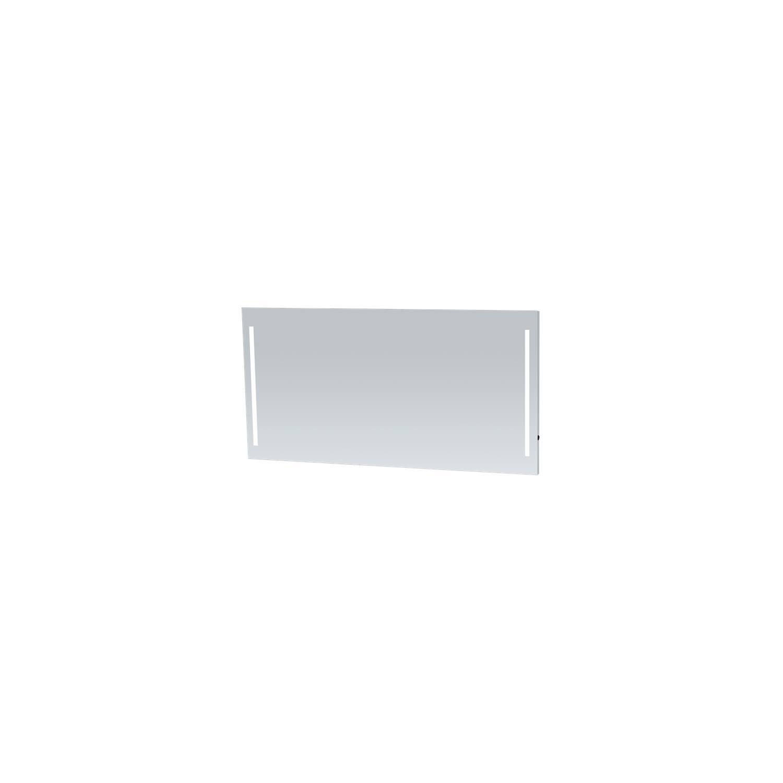 Aluminium Spiegel 140cm m. 2x geintegreerde verlichting L&R verticaal