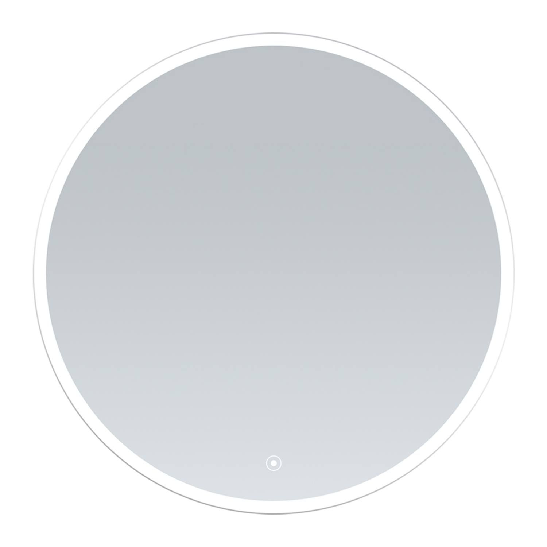 Clock spiegel 70cm rond met geintegreerde kader verlichting rondom