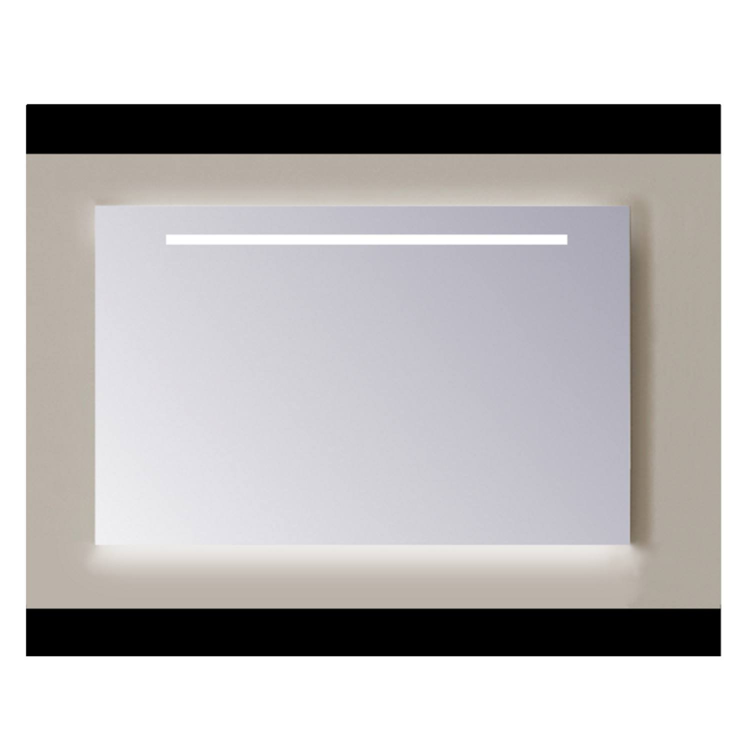 Spiegel Sanicare Q-mirrors 60 x 60 cm Cold White LED Ambi Licht Onder PP Geslepen