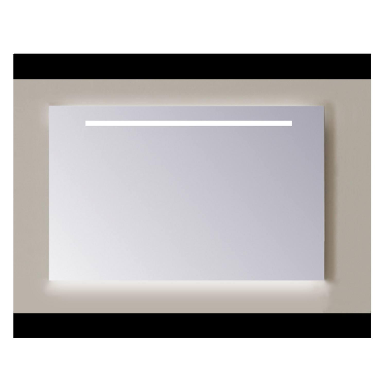 Spiegel Sanicare Q-mirrors 60 x 80 cm Warm White LED Ambi Licht Onder PP Geslepen