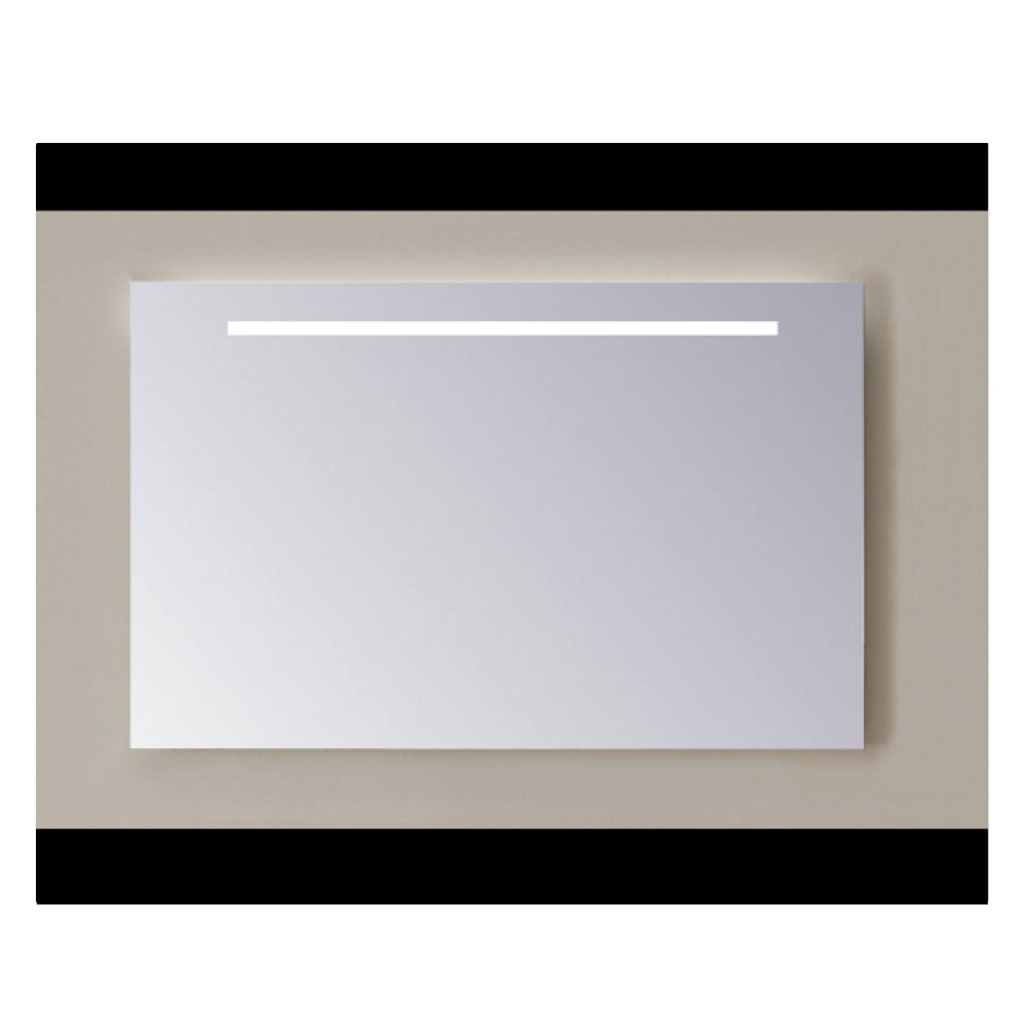 Spiegel Sanicare Q-mirrors Zonder Omlijsting 60 x 85 cm Cold White LED PP Geslepen