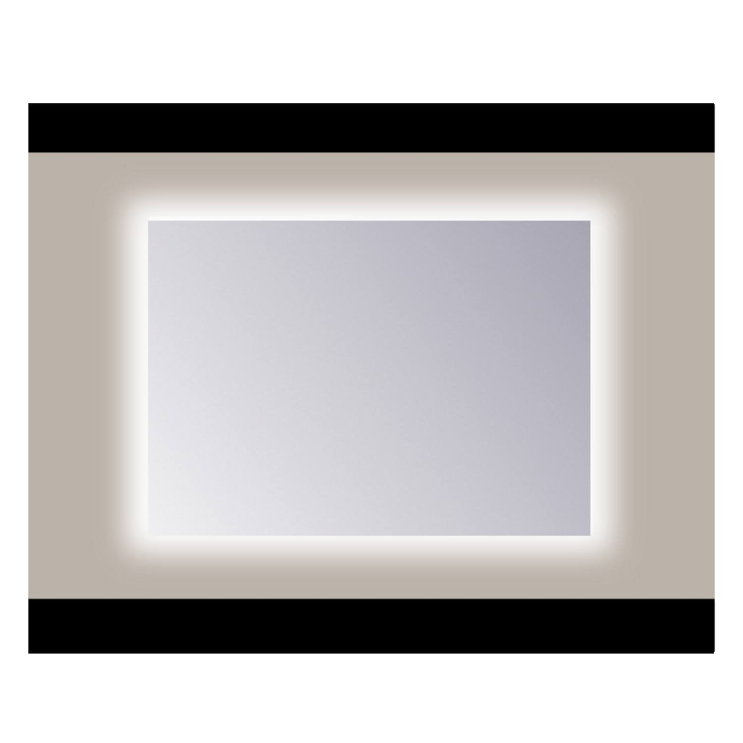 Spiegel Sanicare Q-mirrors Zonder Omlijsting 60 x 70 cm Rondom Cold White LED PP Geslepen