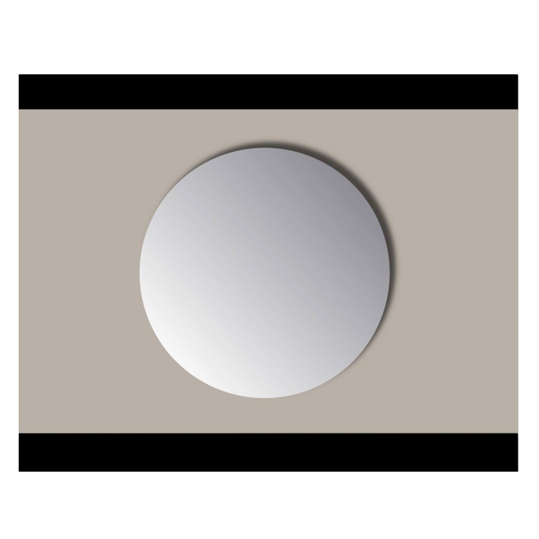 Spiegel Rond Sanicare Q-mirrors Zonder Omlijsting 50 cm PP Geslepen