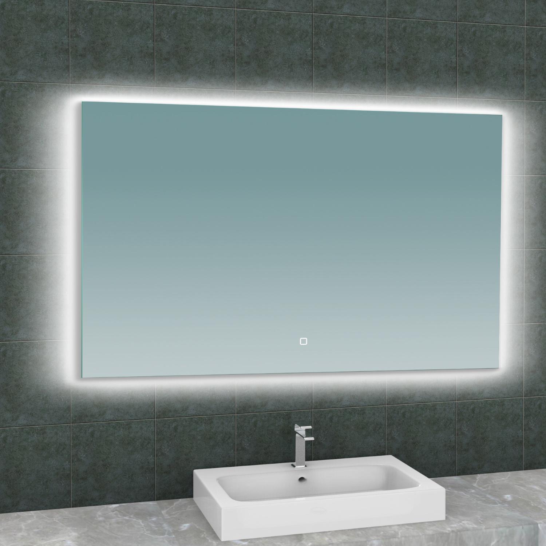 Spiegel Wiesbaden Soul Rechthoek met LED Verlichting Backlight 120 cm