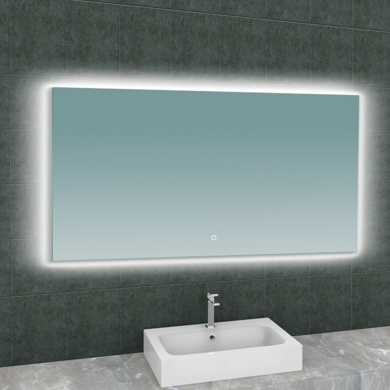 Spiegel Wiesbaden Soul Rechthoek met LED Verlichting Backlight 140 cm