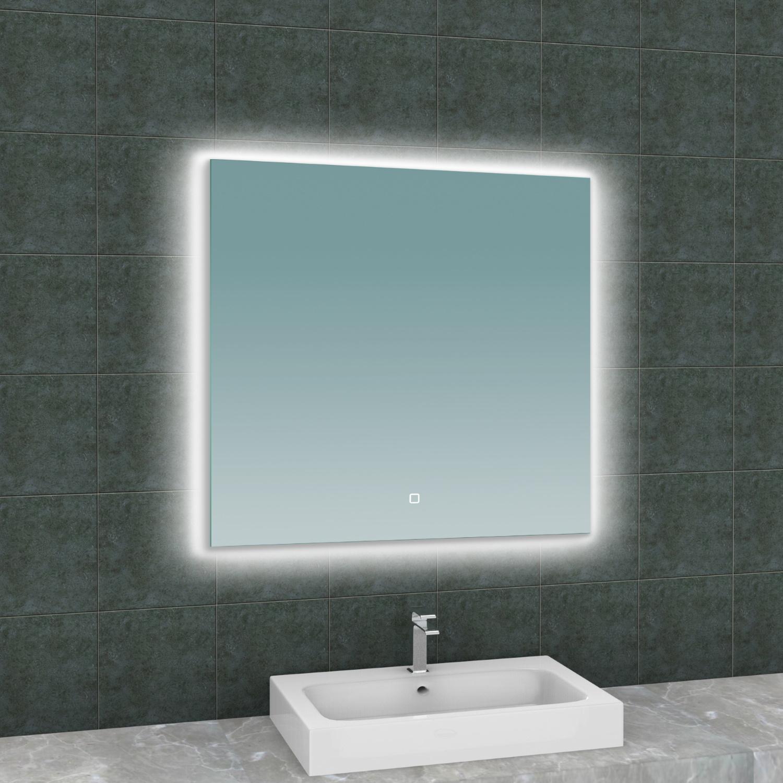 Spiegel Wiesbaden Soul Vierkant met LED Verlichting Backlight 80 cm