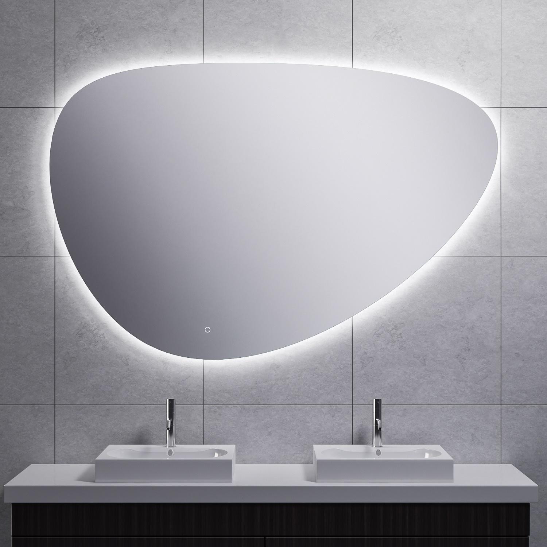 Spiegel Wiesbaden Uovo Organisch Dimbaar LED Verlichting Condensvrij 120 cm