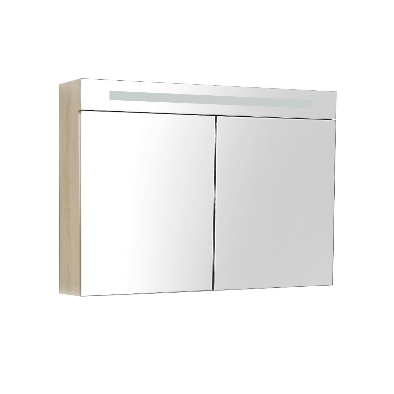 Spiegelkast met verlichting & wcd 100 cm wit - Tegels en badkamers