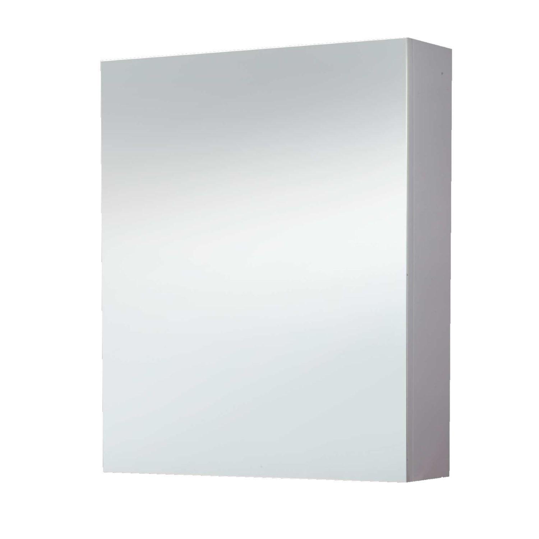 Spiegelkast 60 cm zonder verlichting wit links