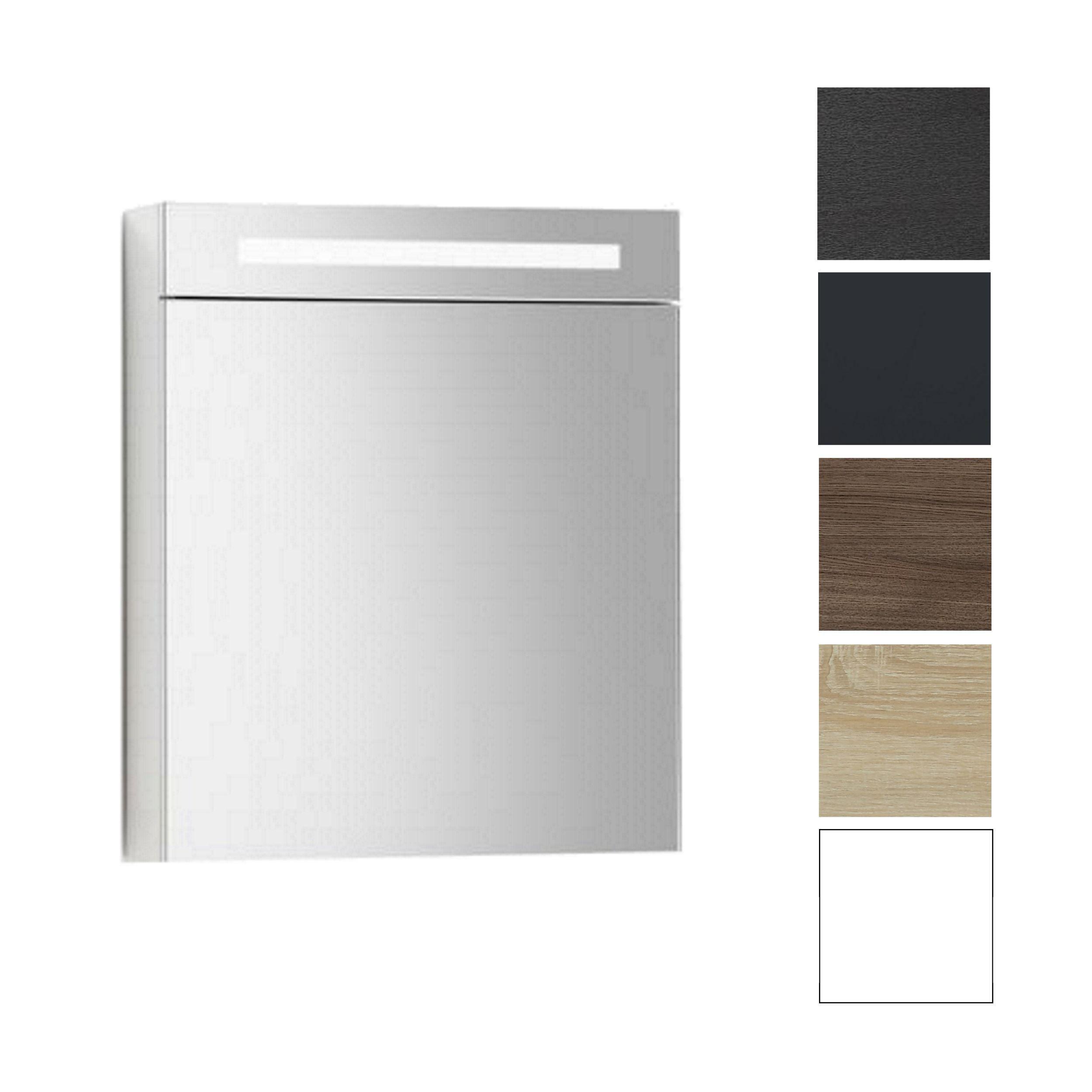 spiegelkast met verlichting wcd 60 cm wit