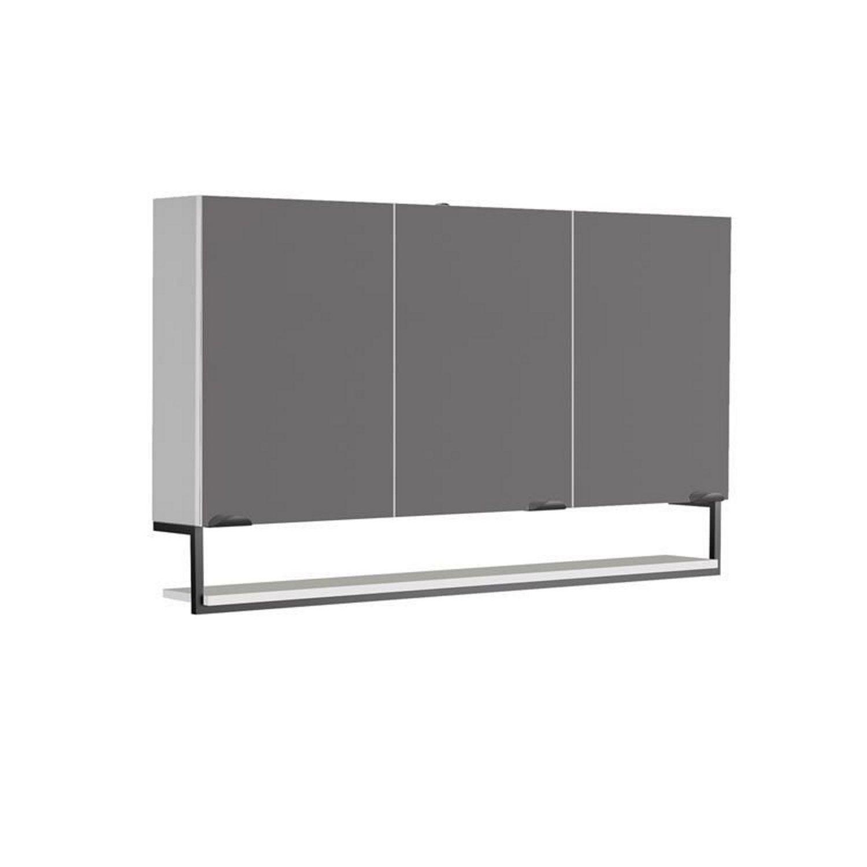 Spiegelkast Allibert Faktory 120x70x16 cm Mineraal Beton Badkamerspiegel > Spiegelkast > Spiegelkast snel en voordelig in huis