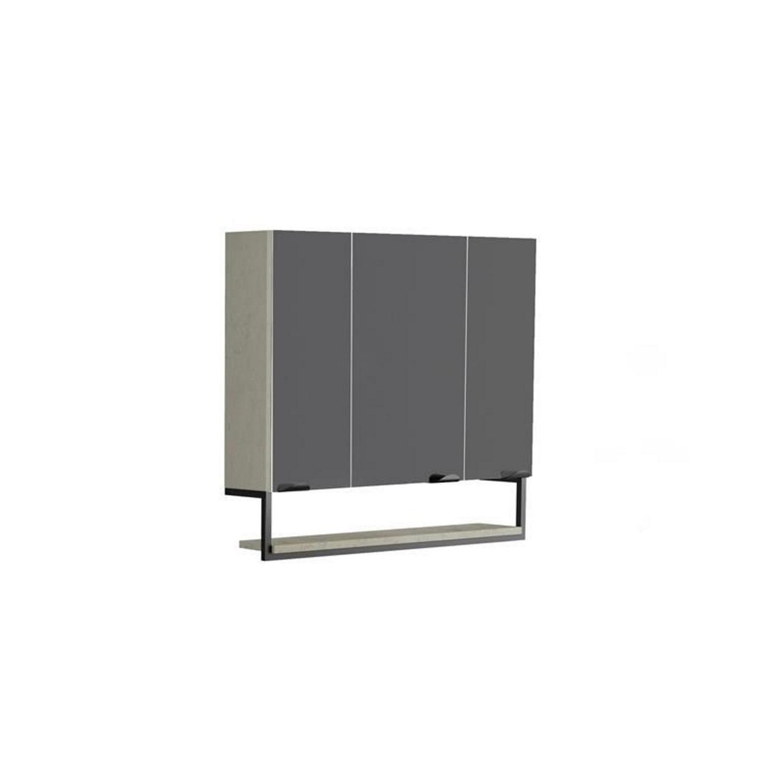 Spiegelkast Allibert Faktory 80x70x16 cm Mineraal Beton Badkamerspiegel > Spiegelkast > Spiegelkast snel en voordelig in huis
