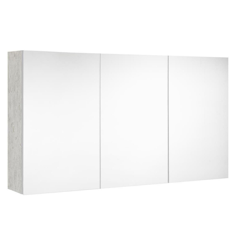 Spiegelkast Allibert Look Stopcontact UTE 120x65x18 cm Licht beton Badkamerspiegel > Spiegelkast > Spiegelkast snel en voordelig in huis