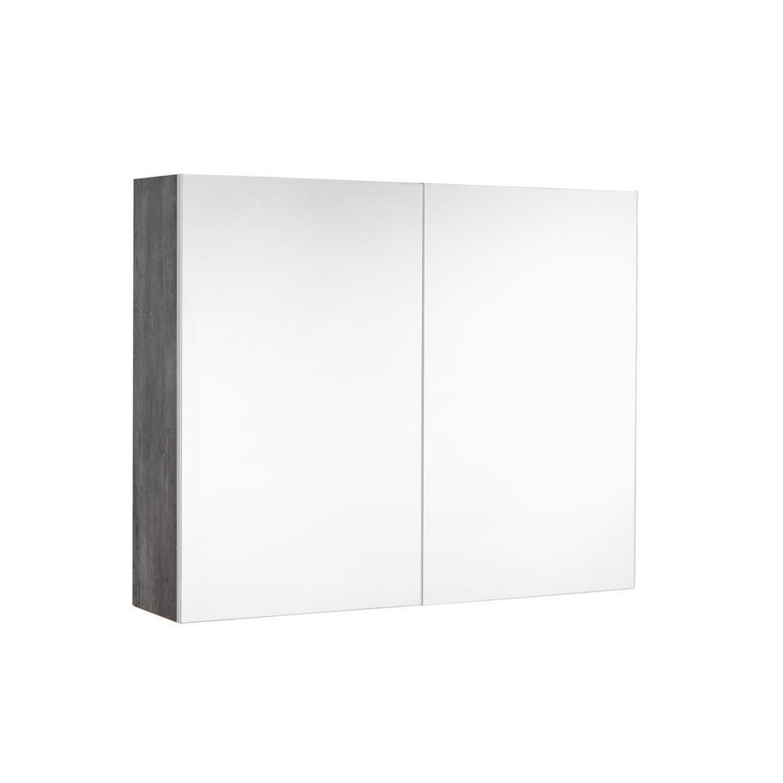 Spiegelkast Allibert Marny 80x65x18 cm UTE Stopcontact Donker Beton
