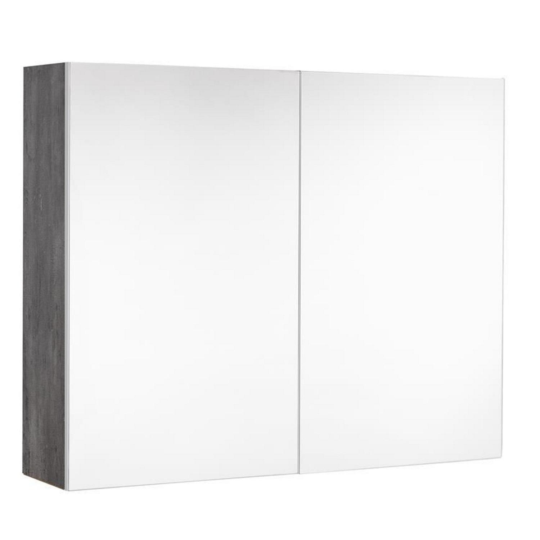 Spiegelkast Allibert Marny 80x65x18 cm VDE Stopcontact Donker Beton