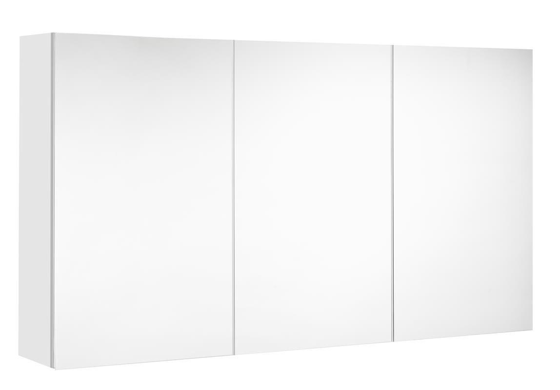 Spiegelkast Allibert Mira 120x65x18 cm UTE stopcontact Ultra Mat Wit Badkamerspiegel > Spiegelkast > Spiegelkast snel en voordelig in huis