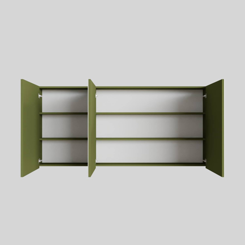 Spiegelkast Boss & Wessing Cube 150x70x16 cm 3 Deuren Groen