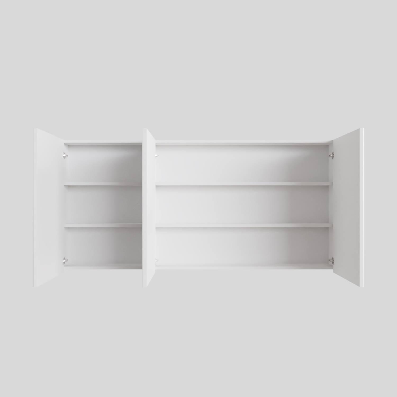 Spiegelkast Boss & Wessing Cube 150x70x16 cm 3 Deuren Mat Wit Boss & Wessing Gratis bezorgd