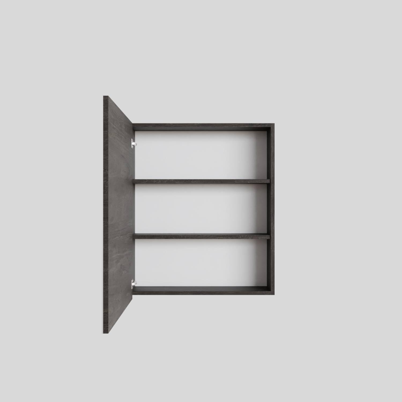 Spiegelkast Boss & Wessing Cube 60x70x16 cm 1 Deur Donkerbruin Boss & Wessing Gratis bezorgd