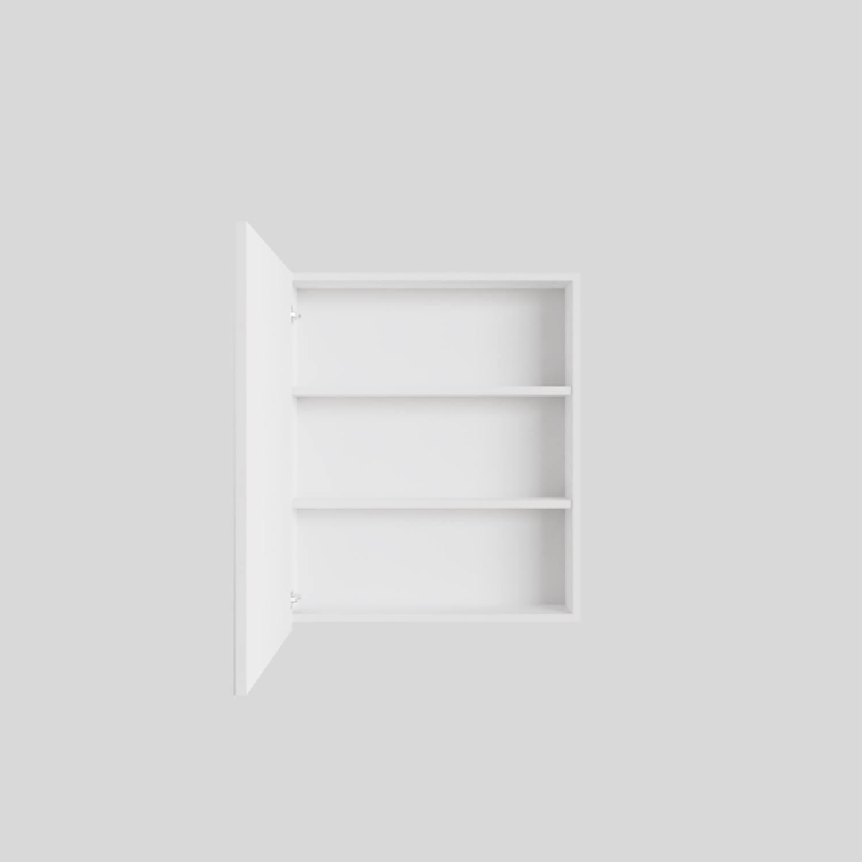 Spiegelkast Boss & Wessing Cube 60x70x16 cm 1 Deur Mat Wit Boss & Wessing Gratis bezorgd