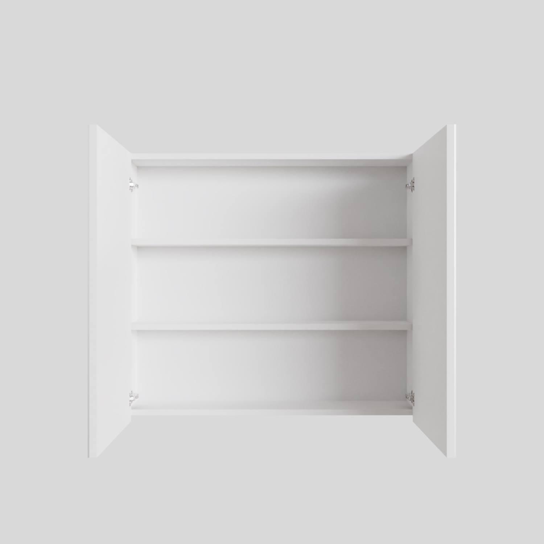 Spiegelkast Boss & Wessing Cube 80x70x16 cm 2 Deuren Mat Wit