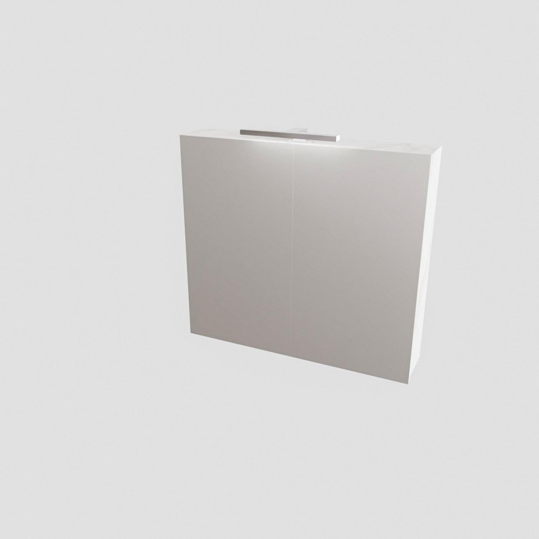 Spiegelkast BWS Valencia 80x70x16 cm met Deur Carrara Mat Boss & Wessing Gratis bezorgd