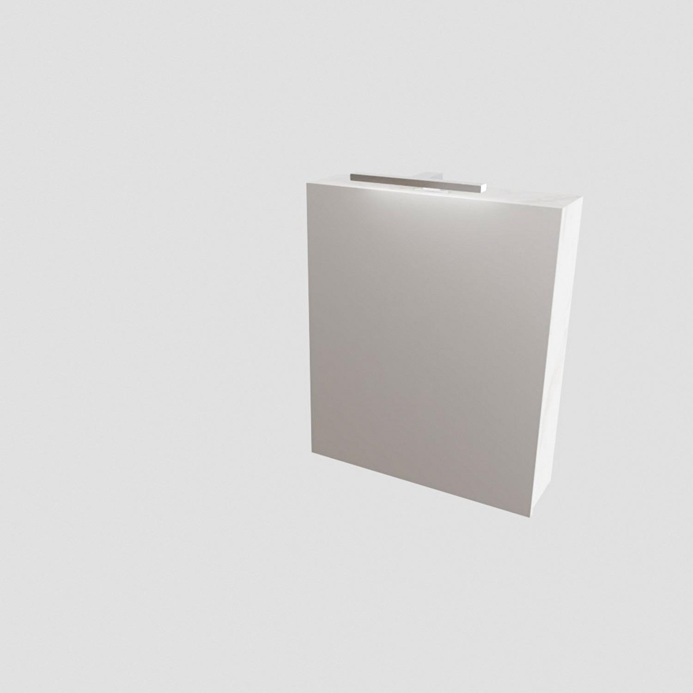 Spiegelkast BWS Valencia 60x70x16 cm met Deur Carrara Mat Boss & Wessing Gratis bezorgd