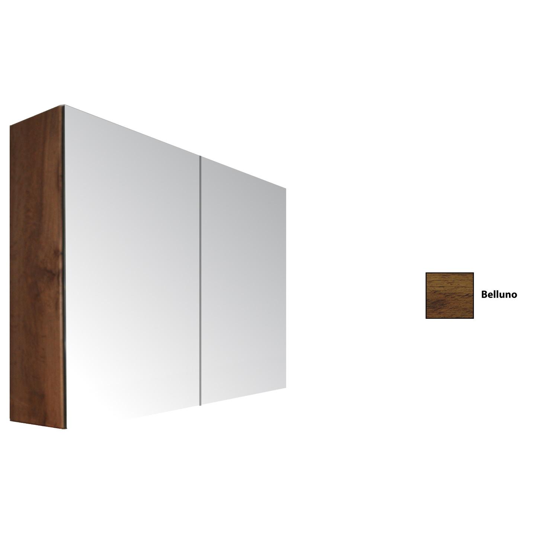 Spiegelkast Sanicare Qlassics 120 cm 2 Spiegeldeuren Belluno Eiken