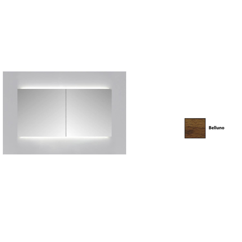 Spiegelkast Sanicare Qlassics Ambiance 100 cm 2 Spiegeldeuren Belluno Eiken
