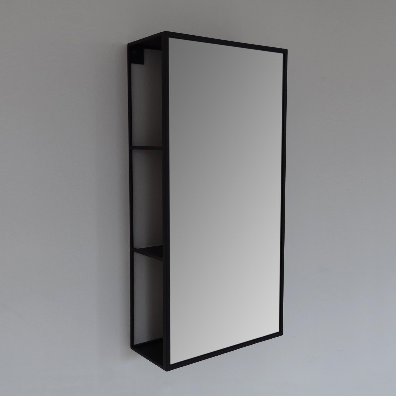 Spiegelkast Vanita Sector 60x30 cm Mat Zwart