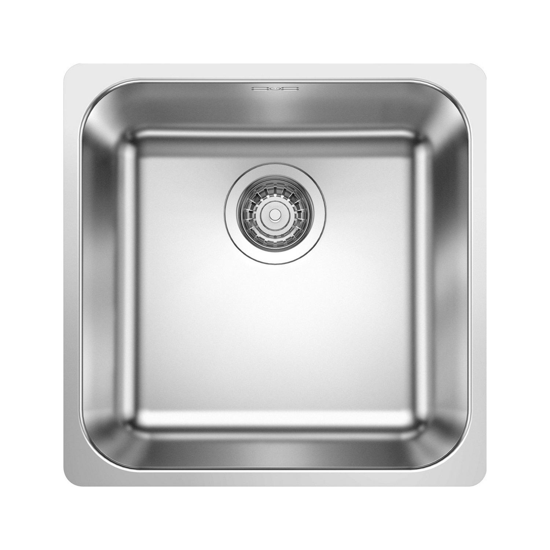 Spoelbak Uitstortgootsteen Blanco Gonis 1B 44x44cm RVS kopen - Tegel Depot sanitair met korting