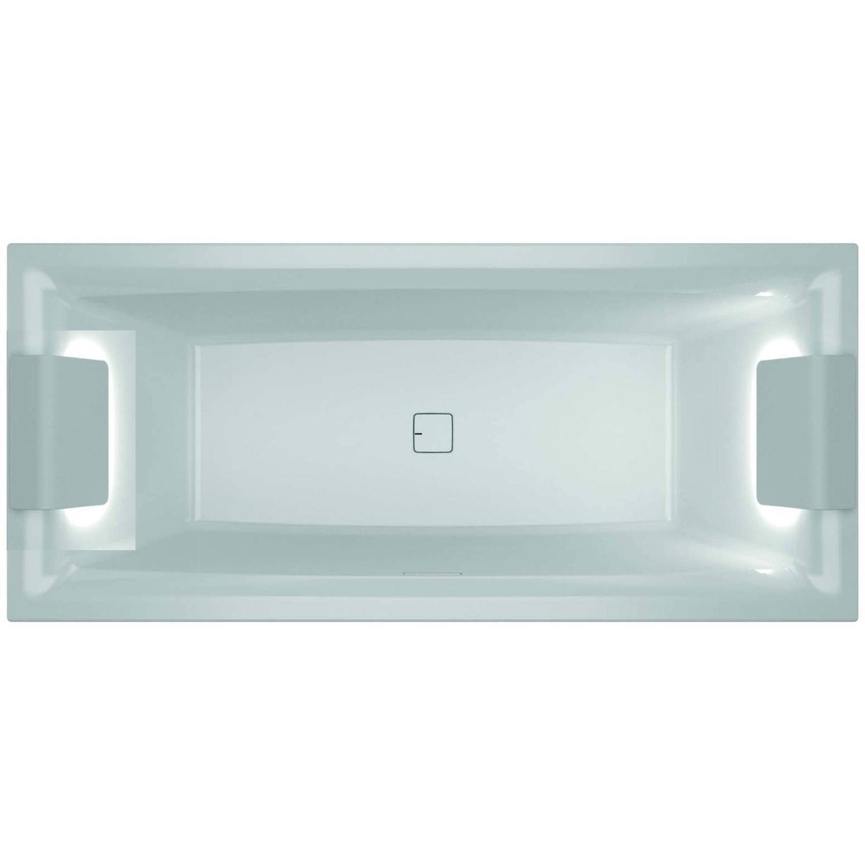 Bad 72222 Ligbad Riho Still Square met LED en Hoofdsteun 180×80 cm Acryl Wit (Links en Rechts)