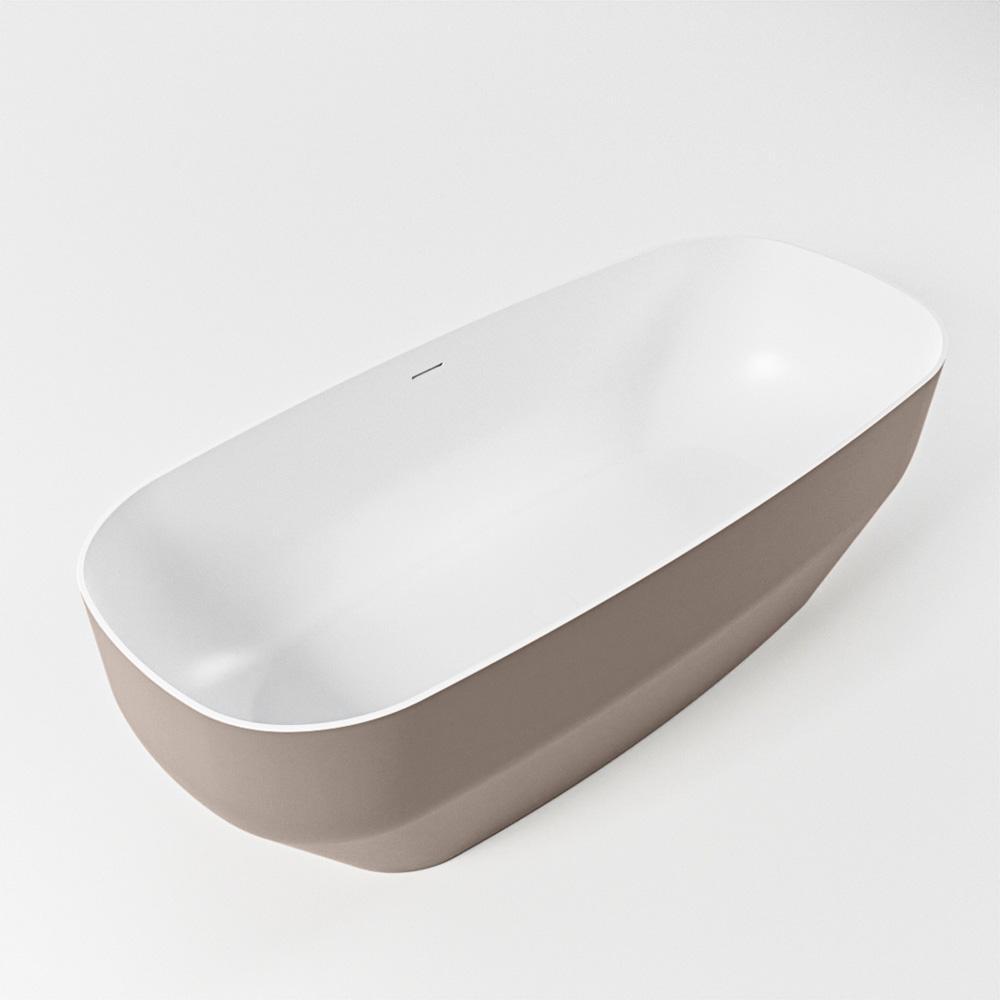 STONE vrijstaand bad 170x75cm kleur Smoke / talc