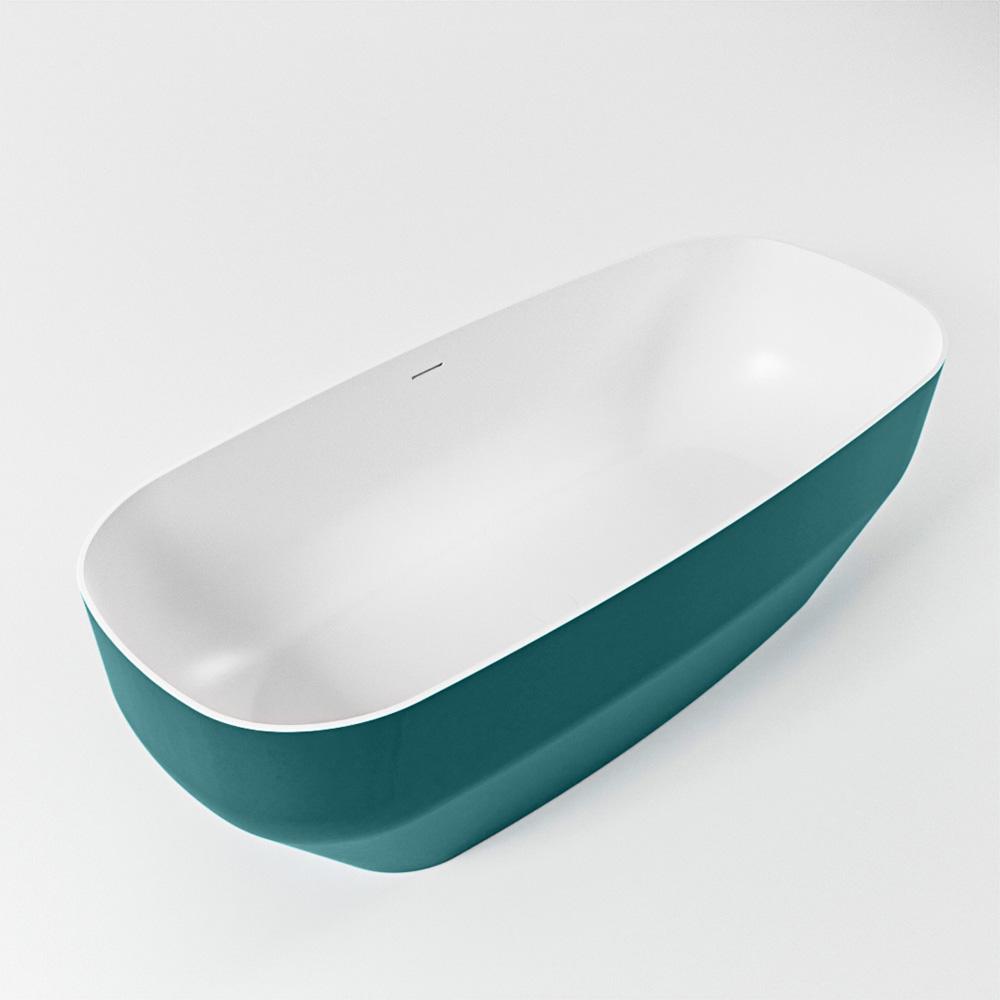 STONE vrijstaand bad 170x75cm kleur Smag / talc