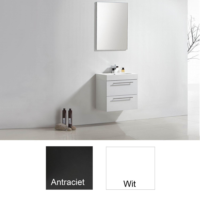 Badkamermeubels Wastafelonderkast kopen? Badkamermeubelset Sanilux Compactline 60x38x50 cm (in twee kleuren leverbaar) met korting