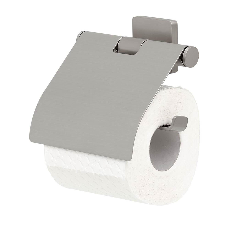 Tiger Dock Toiletrolhouder Met Klep RVS geborsteld