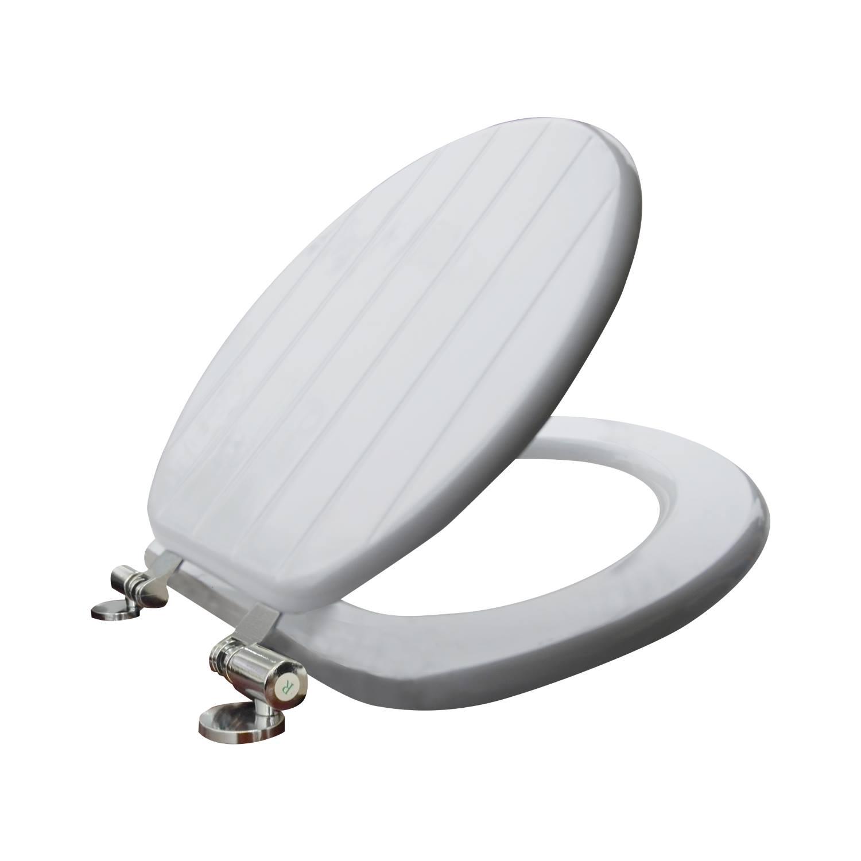 Toilet Zitting Van Marcke Stripe Softclose MDF Wit voordeel