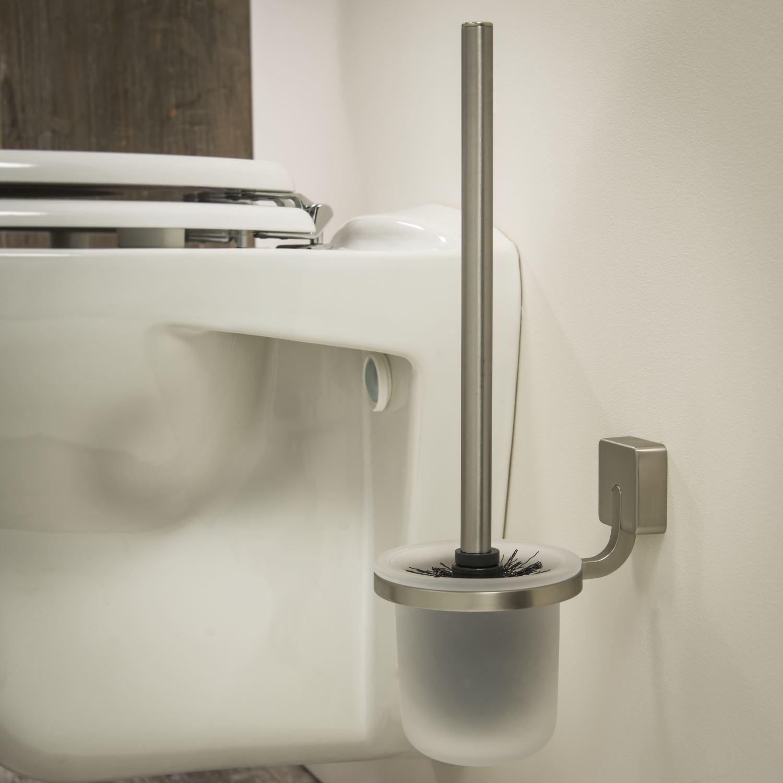 Toiletborstelhouder Tiger Impuls Muur Glas/ RVS geborsteld 38cm ...