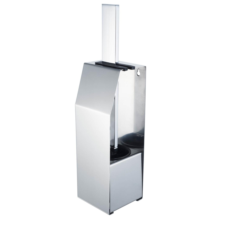 Toiletborstelset Haceka Aqualux PRO5000 Vrijstaand Chroom voordeel