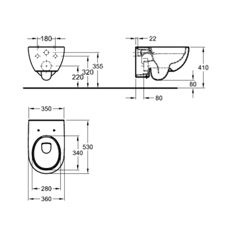 toiletpot geberit sphinx 300 wcl 28 rimfree