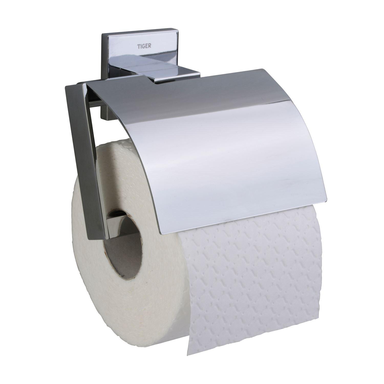 Toiletrolhouder Tiger Items Met klep Chroom kopen met korting doe je hier